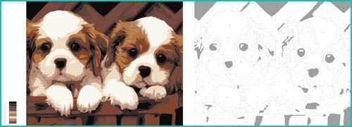 Malen nach Zahlen Hunde
