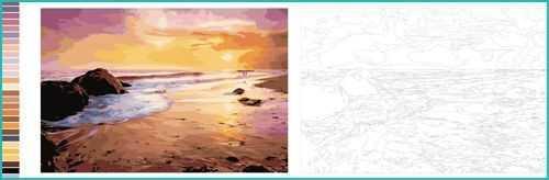 Malen nach Zahlen Meer Strand