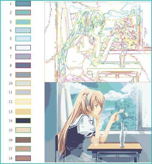 Malen nach Zahlen Comic