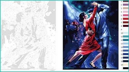 Malen nach Zahlen zum Ausdrucken: Tanz