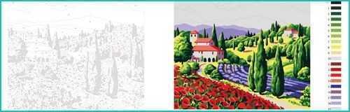 Malen nach Zahlen Toscana