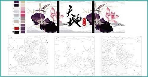 Malen nach Zahlen Triptychon