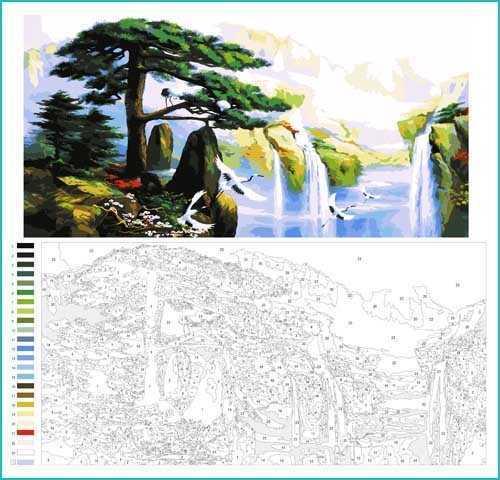 Malen nach Zahlen Landschaft