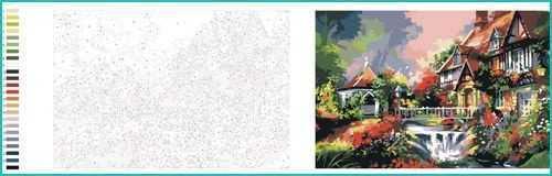 Malen nach Zahlen Villa Garten