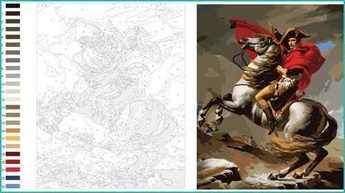 Vorlagen zum Malen Napoleon