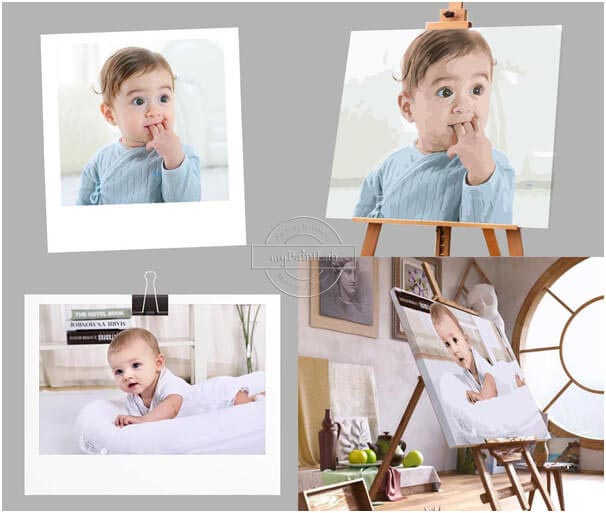 Wunschmotiv Malen nach Zahlen - Baby Porträt
