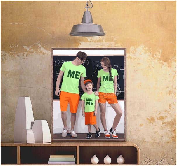 Malen Nach Zahlen - Familie Foto