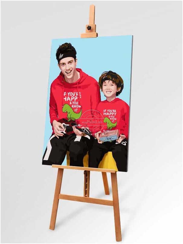 Malen Nach Zahlen Wunschmotiv Fotos Familie DIY