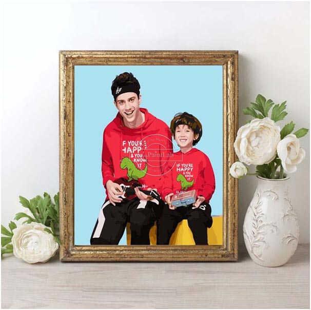 Malen Nach Zahlen Wunschmotiv Fotos Familie