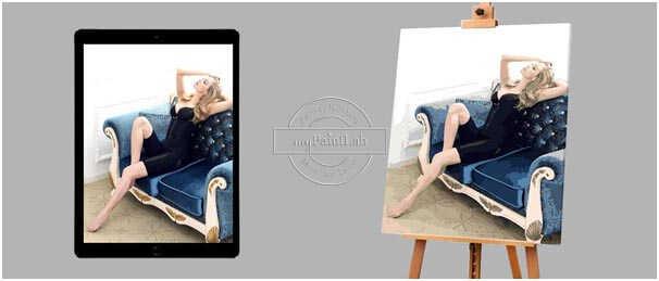 Malen nach Zahlen Wunschmotiv Porträt