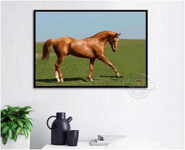 Malen nach Zahlen Wunschmotive von Ihren eigenen Pferdefotos