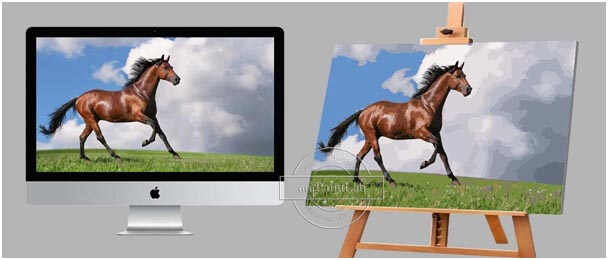Personalized Paint by Numbers for Horses