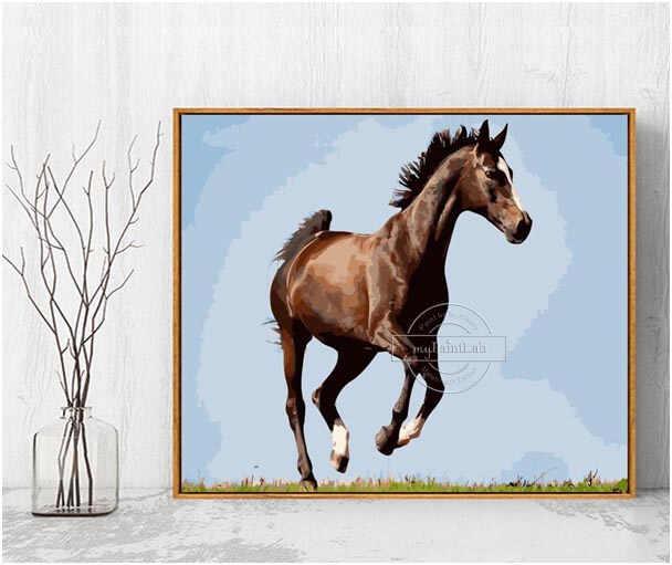 Malen nach Zahlen als Wunschmotiv von eigenen Pferde Foto