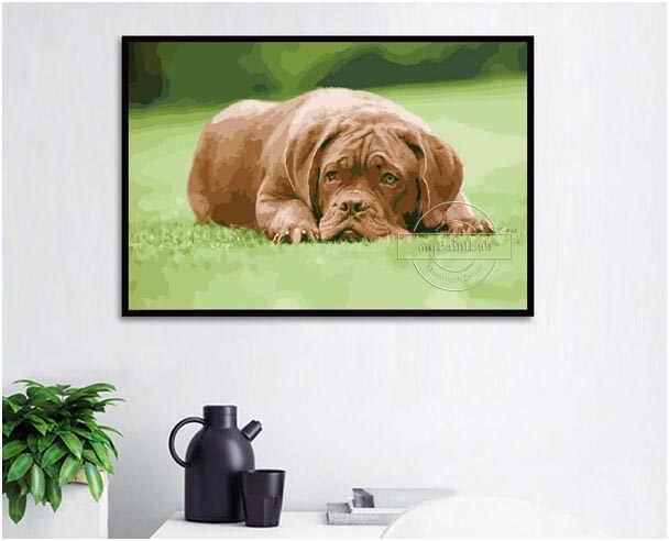 Malen nach Zahlen Wunschmotive von Ihren eigenen Hundefotos