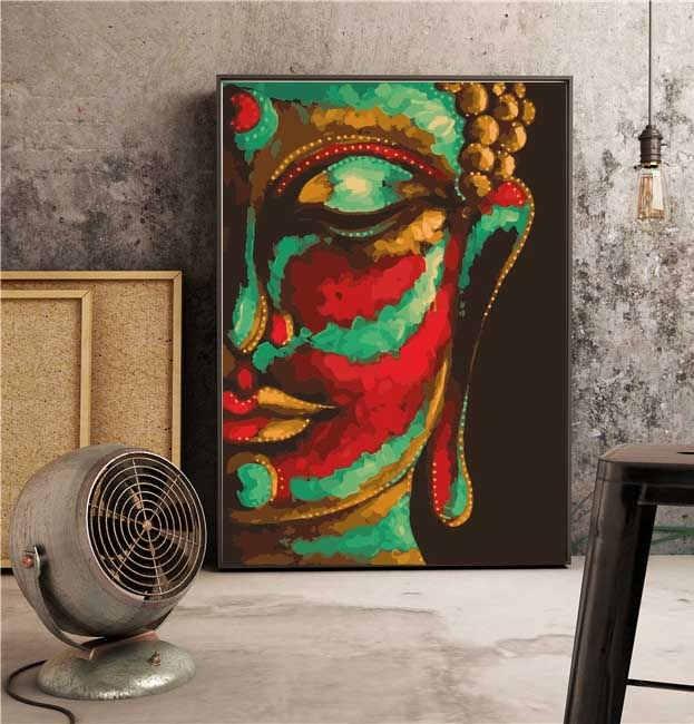 Malen nach Zahlen Groß Buddha 60x80 cm